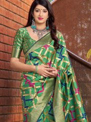 Multi Colour Ceremonial Art Silk Designer Traditional Saree