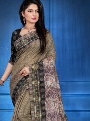 Multi Colour Ceremonial Art Silk Printed Saree
