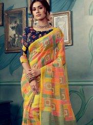 Multi Colour Ceremonial Cotton Silk Traditional Designer Saree