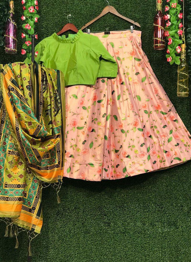 Multi Colour Ceremonial Lehenga Choli