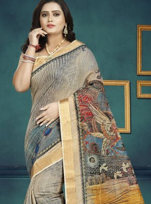Multi Colour Chanderi Festival Trendy Saree