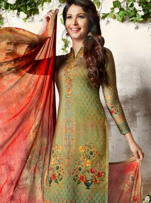 Multi Colour Churidar Designer Suit