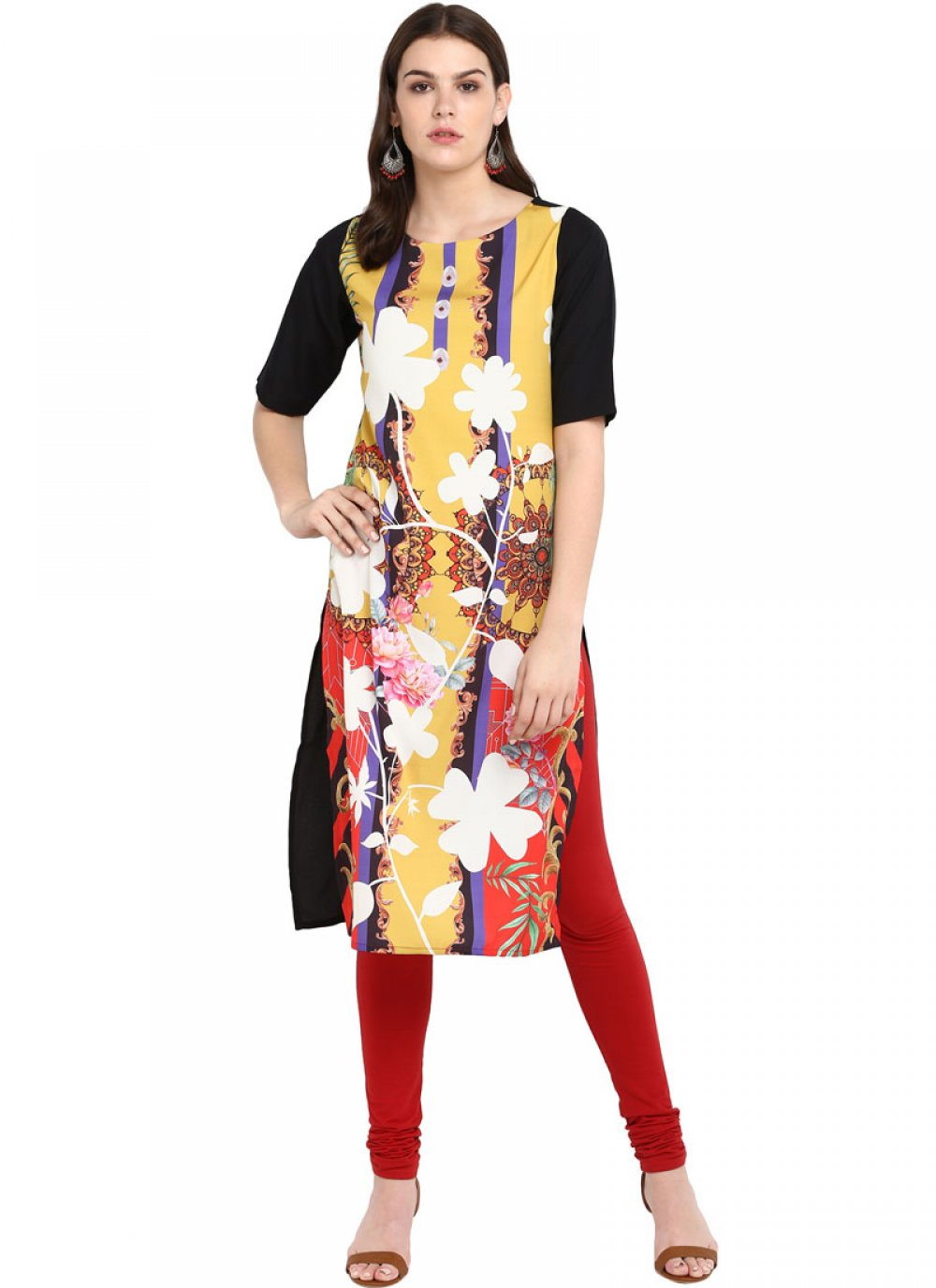 Multi Colour Color Casual Kurti