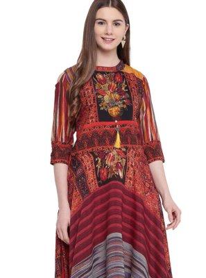 Multi Colour Color Designer Gown