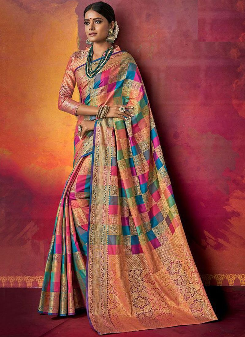 Multi Colour Color Designer Traditional Saree