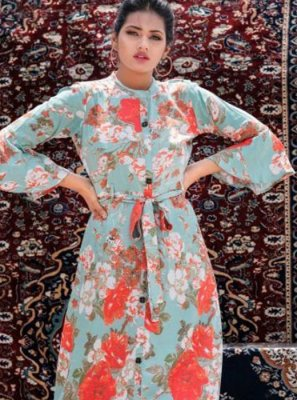 Multi Colour Color Party Wear Kurti