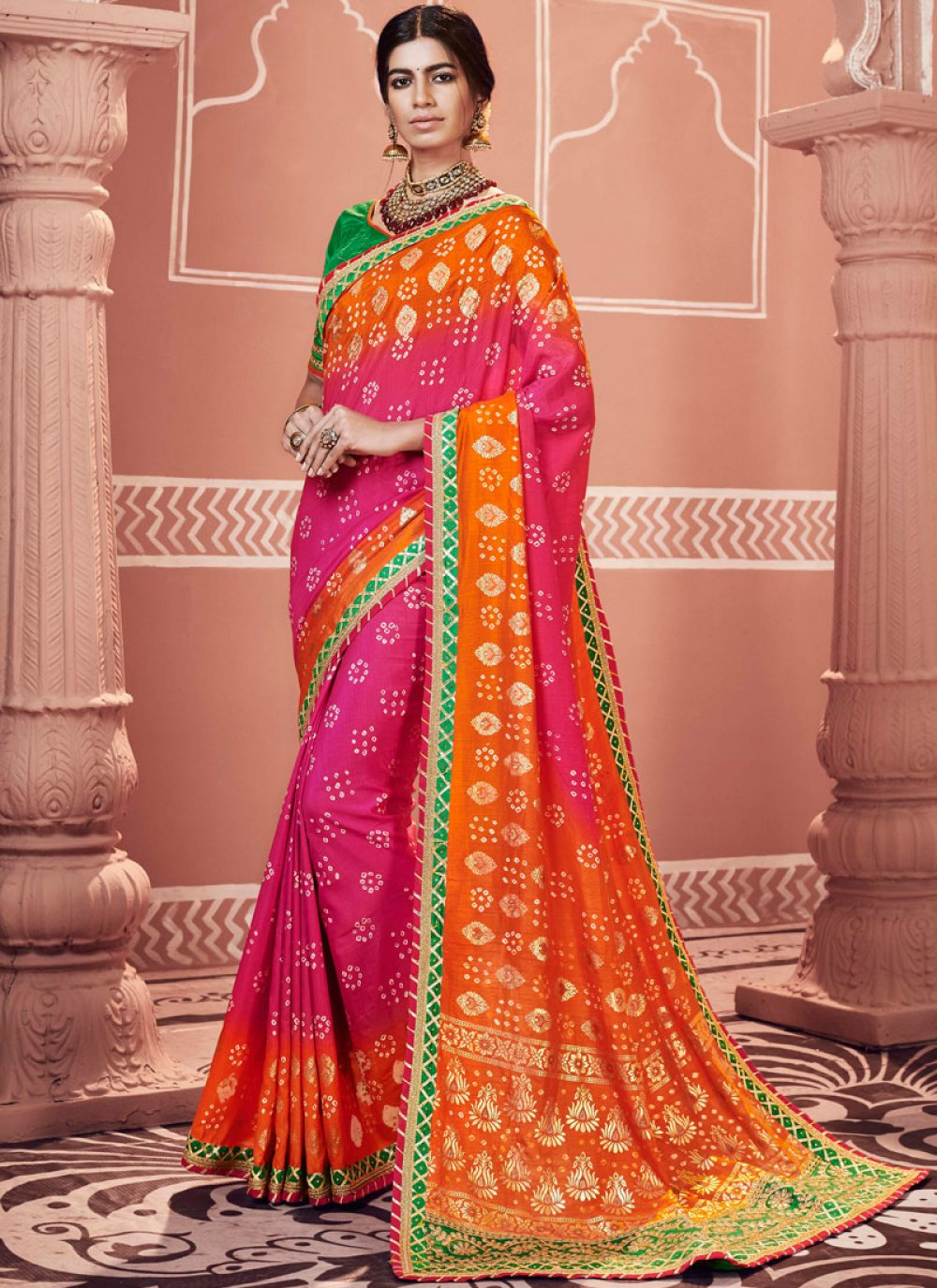 Multi Colour Color Shaded Saree