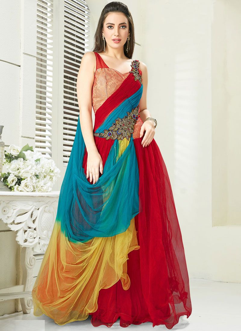 Multi Colour Color Trendy Designer Suit