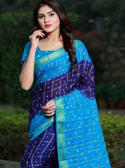 Multi Colour Cotton Bandhej Casual Saree