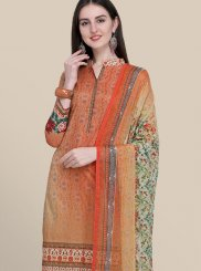 Multi Colour Cotton Designer Suit