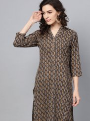 Multi Colour Cotton Party Wear Kurti