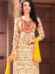 Multi Colour Cotton Printed Churidar Salwar Suit