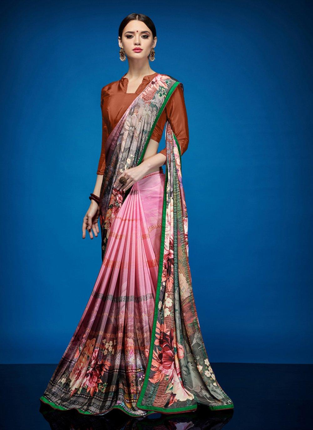Multi Colour Crepe Silk Casual Casual Saree