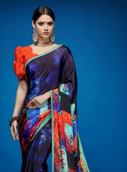 Multi Colour Crepe Silk Casual Saree