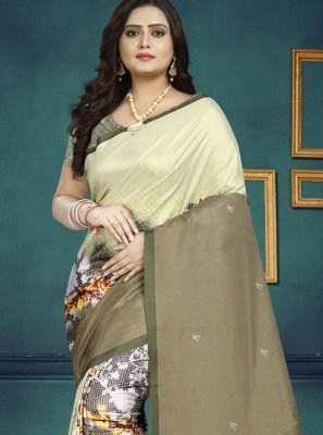 Multi Colour Digital Print Casual Saree