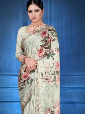 Multi Colour Digital Print Ceremonial Printed Saree