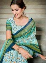 Multi Colour Digital Print Classic Saree