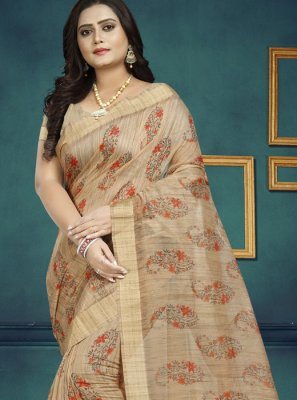 Multi Colour Digital Print Classic Saree