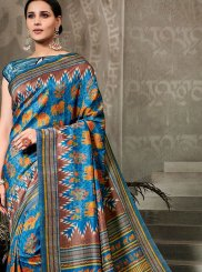 Multi Colour Digital Print Festival Traditional Saree