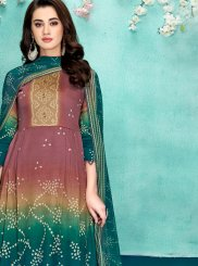 Multi Colour Digital Print Party Designer Salwar Suit