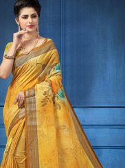 Multi Colour Digital Print Printed Saree