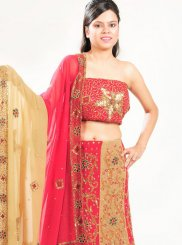 Multi Colour Embroidered Bridal Lehenga Choli