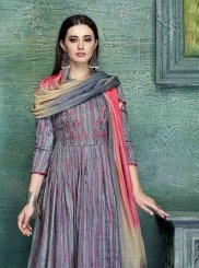Multi Colour Embroidered Designer Palazzo Salwar Kameez