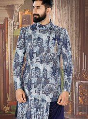 Multi Colour Embroidered Jacquard Sherwani