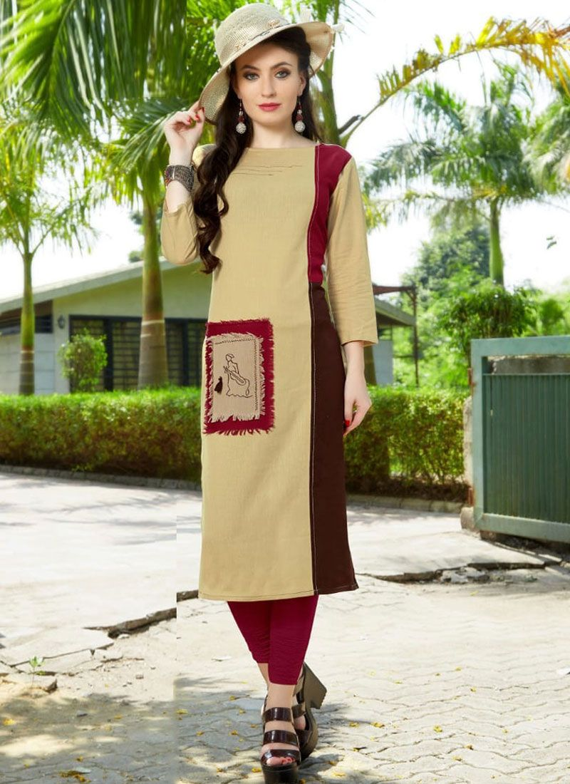 Multi Colour Embroidered Party Wear Kurti