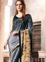 Multi Colour Faux Crepe Casual Printed Saree