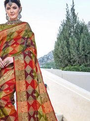 Multi Colour Festival Art Silk Designer Traditional Saree