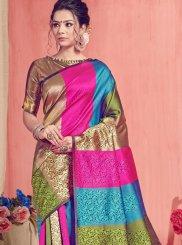 Multi Colour Festival Art Silk Traditional Saree