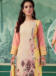 Multi Colour Festival Chanderi Churidar Salwar Suit