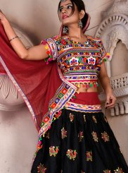 Multi Colour Festival Cotton Lehenga Choli