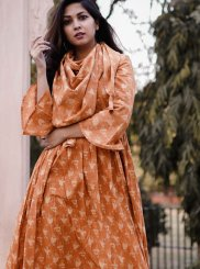 Multi Colour Festival Cotton Party Wear Kurti