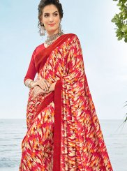 Multi Colour Festival Crepe Silk Casual Saree