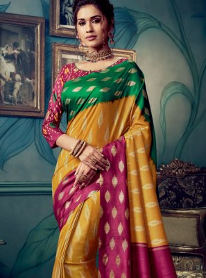Multi Colour Festival Designer Traditional Saree