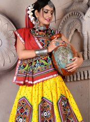 Multi Colour Festival Lehenga Choli