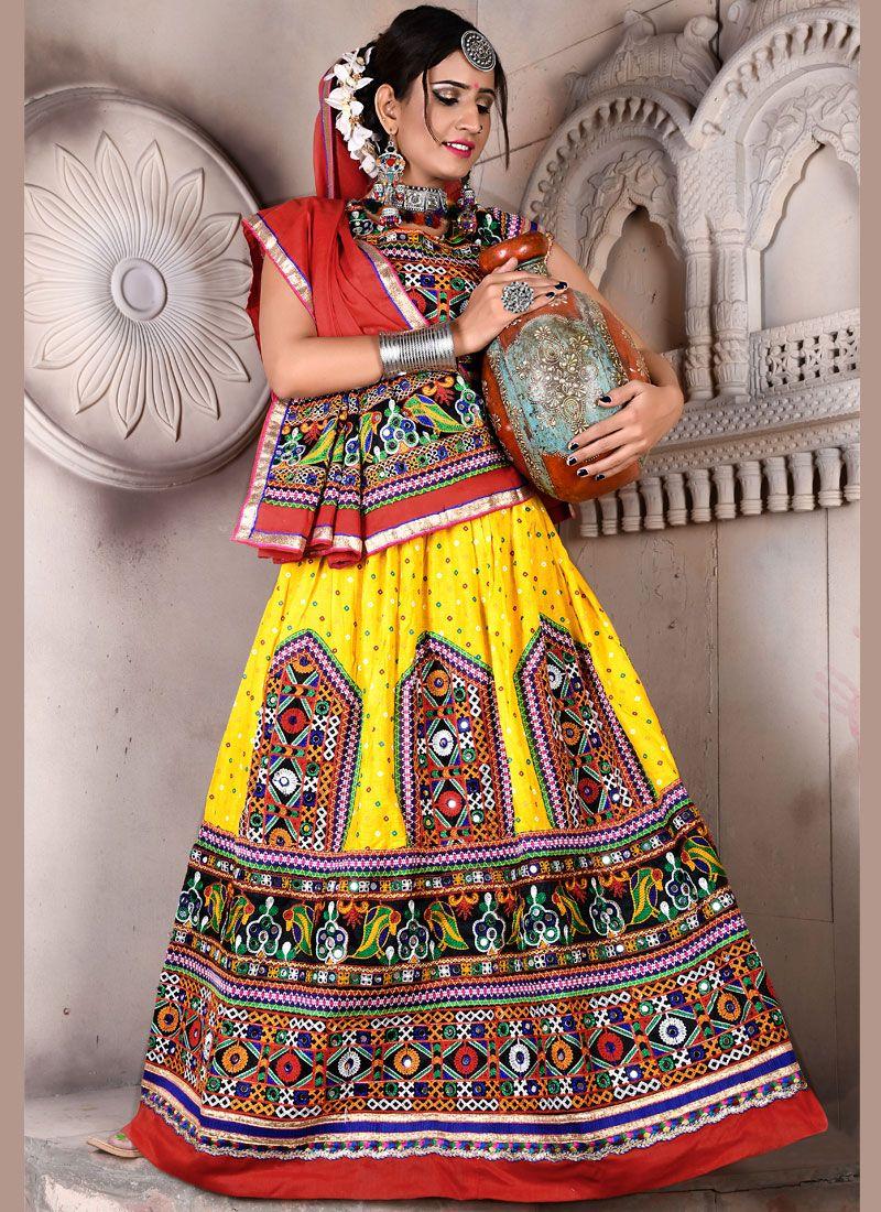 Multi Colour Festival Lehenga Choli