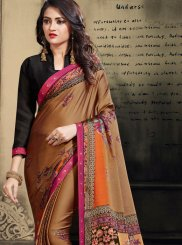 Multi Colour Festival Printed Saree