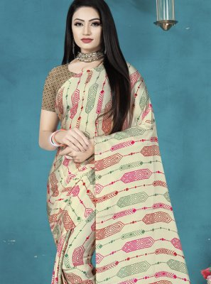 Multi Colour Festival Satin Silk Classic Saree