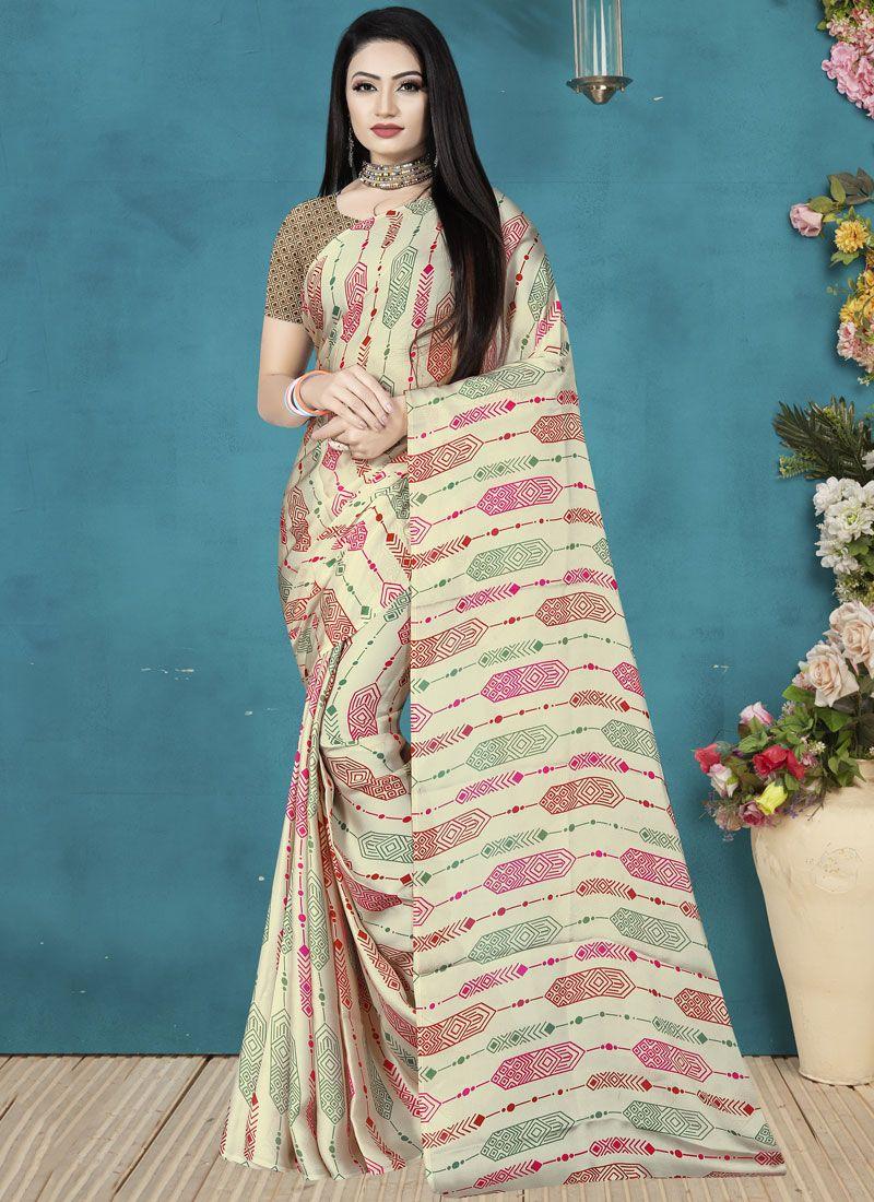 Multi Colour Festival Satin Silk Classic Saree