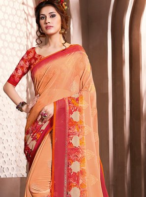 Multi Colour Foil print Casual Casual Saree