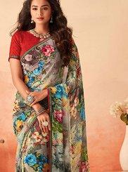 Multi Colour Georgette Festival Trendy Saree