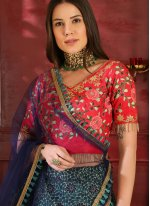 Multi Colour Lace Wedding Lehenga Choli