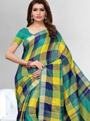 Multi Colour Linen Casual Casual Saree