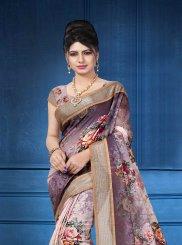 Multi Colour Linen Festival Designer Saree