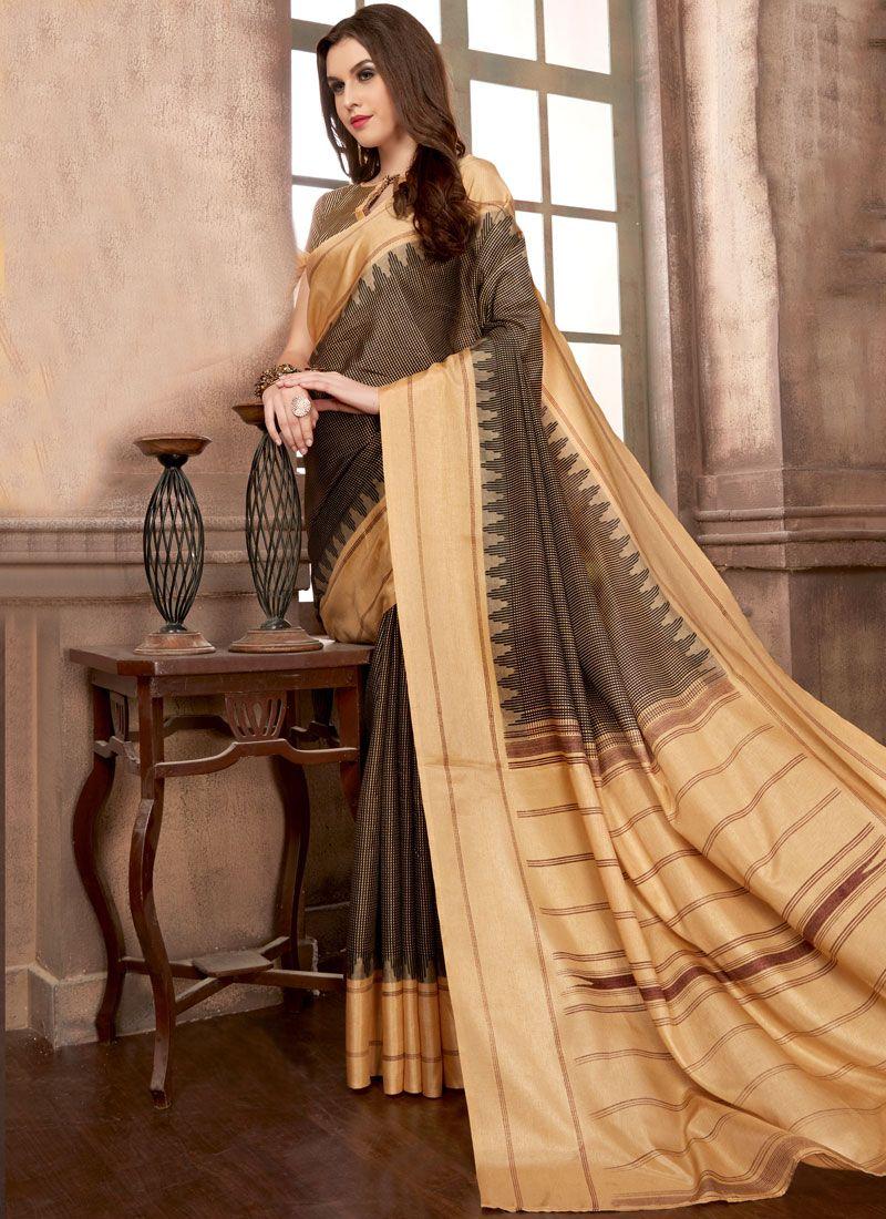 Multi Colour Manipuri Silk Abstract Print Printed Saree