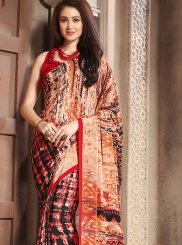 Multi Colour Party Faux Crepe Casual Saree