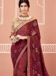 Multi Colour Patch Border Ceremonial Classic Designer Saree